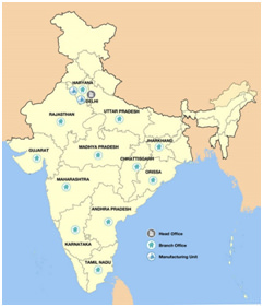 Map of India - Multicolor® Steels