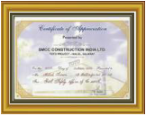 SMCC Construction India Ltd. Safety Award