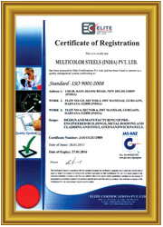 ISO Certificate -9001-2008 for Quality Standard