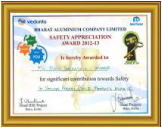 BALCO Safety Award (2013)