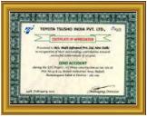 Toyota Tsusho India Pvt. Ltd. Safety Award