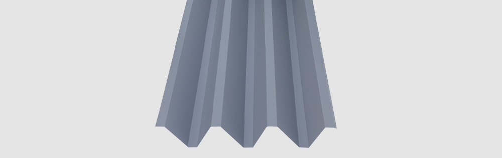 Strong Side Wall Cladding With Deep Corrugation