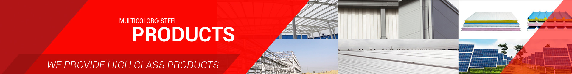 Roof Panels | PEB | Insulated Sandwich Panels - Multicolor